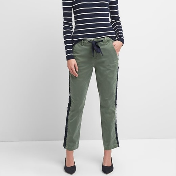 Gap Girlfriend Chinos with Side Lace Detailing b3d2b4c49